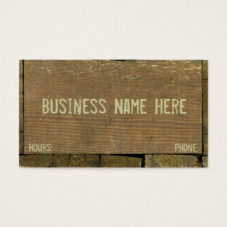 Wooden, Antique Boards Weathered Planks Business Card