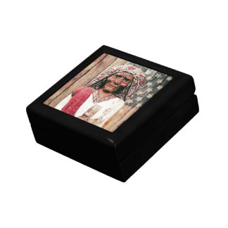 Wooden Antique Cigar Store Indian Gift Box