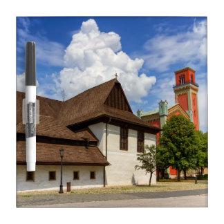 Wooden articular church in Kezmarok, Slovakia Dry Erase Board