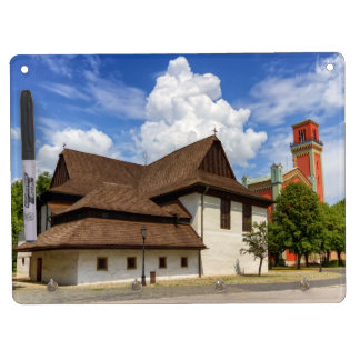 Wooden articular church in Kezmarok, Slovakia Dry Erase Board With Keychain Holder
