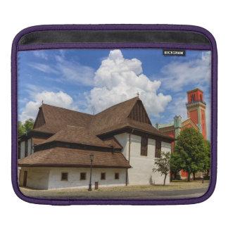 Wooden articular church in Kezmarok, Slovakia iPad Sleeve