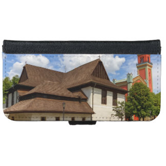 Wooden articular church in Kezmarok, Slovakia iPhone 6 Wallet Case