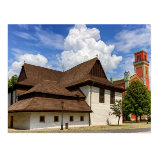 Wooden articular church in Kezmarok, Slovakia Postcard