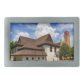 Wooden articular church in Kezmarok, Slovakia Rectangular Belt Buckles