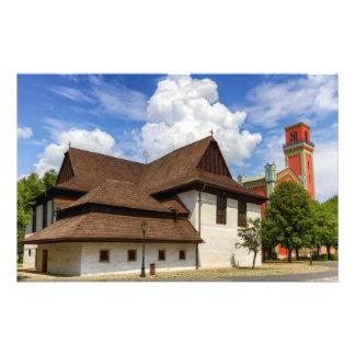 Wooden articular church in Kezmarok, Slovakia Stationery