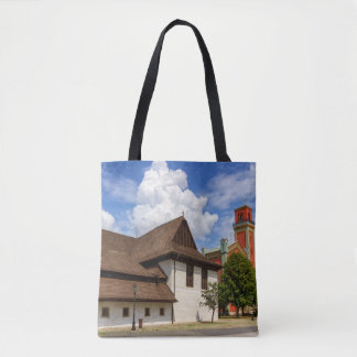 Wooden articular church in Kezmarok, Slovakia Tote Bag
