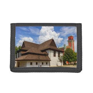 Wooden articular church in Kezmarok, Slovakia Trifold Wallet