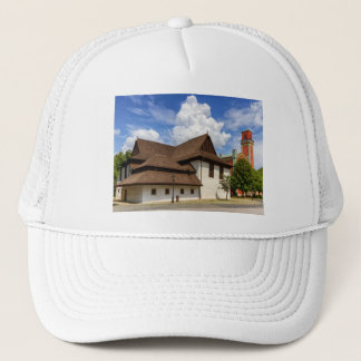 Wooden articular church in Kezmarok, Slovakia Trucker Hat