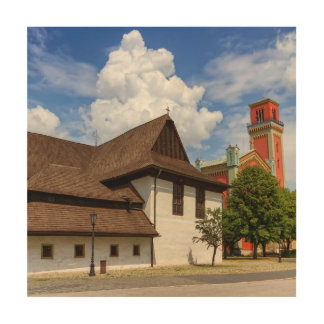 Wooden articular church in Kezmarok, Slovakia Wood Wall Decor