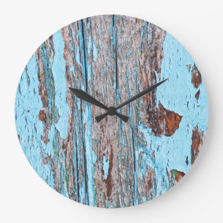 Wooden background large clock