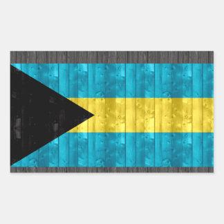 Wooden Bahamian Flag Sticker