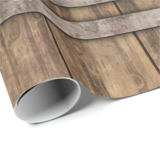 Wooden Barrel Art 1 Wrapping Paper