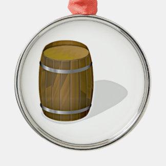Wooden Barrel Metal Ornament