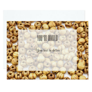 Wooden beads | card