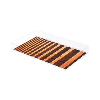 Wooden beams acrylic tray