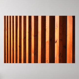 Wooden beams poster