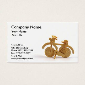 Wooden bicycle business card