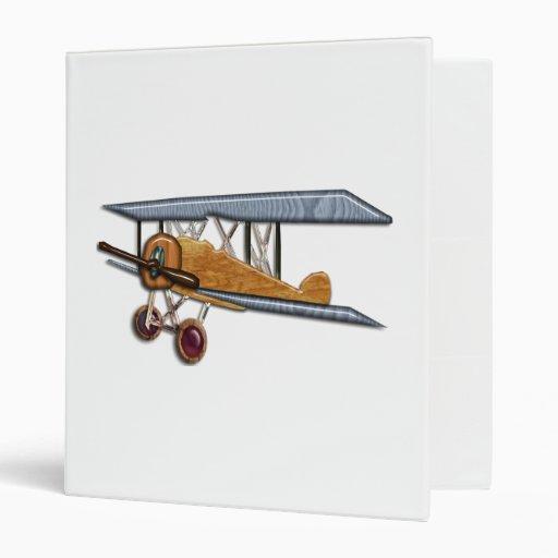 Wooden Biplane 3 Ring Binder