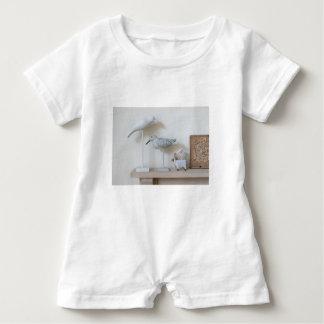Wooden birds and birch sheep baby romper