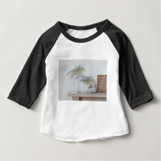 Wooden birds and birch sheep baby T-Shirt