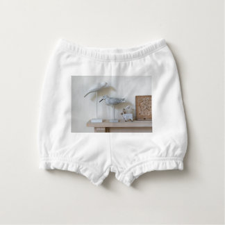 Wooden birds and birch sheep diaper cover
