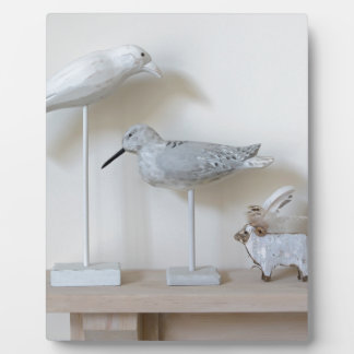 Wooden birds and birch sheep plaque
