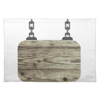 wooden board placemat