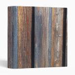 Wooden Boards Vinyl Binder