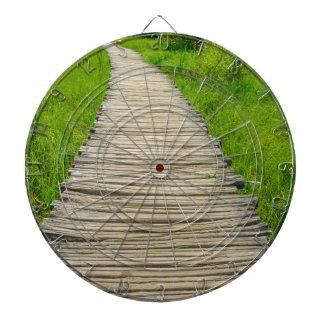 Wooden Boardwalk Hiking Trail Dart Board