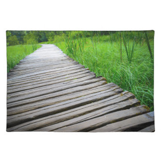 Wooden Boardwalk Hiking Trail Placemat