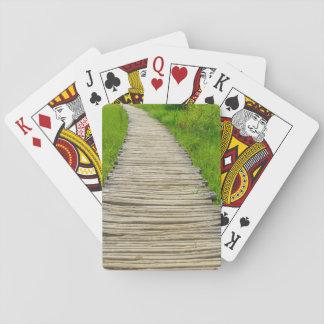 Wooden Boardwalk Hiking Trail Poker Deck