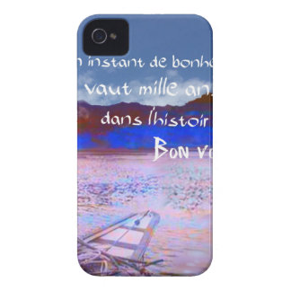 Wooden boat with message. iPhone 4 cover