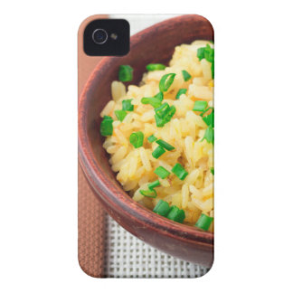 Wooden bowl of cooked rice and vegetables Case-Mate iPhone 4 case