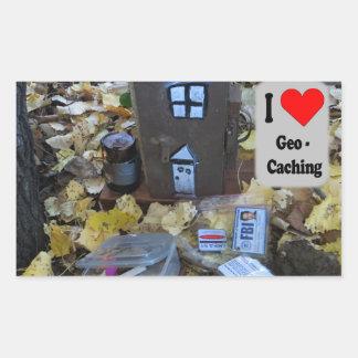 Wooden box hide: Geocaching Sticker