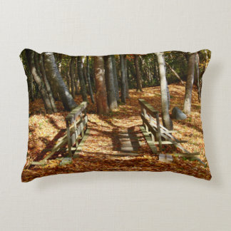 Wooden Bridge Autumn Scenery 2015 Decorative Pillow
