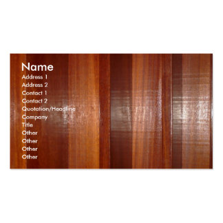 Wooden Buisness Card Pack Of Standard Business Cards
