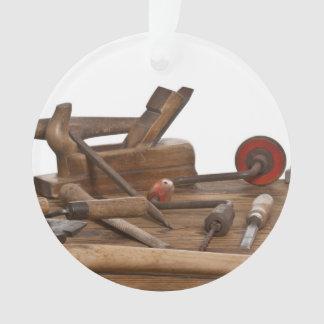 Wooden Carpenter Tools Ornament