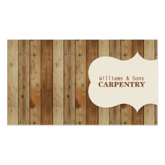 Wooden Carpentry Pack Of Standard Business Cards