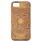 Wooden Ceiling with Golden Stars The Alhambra iPhone 5 Case