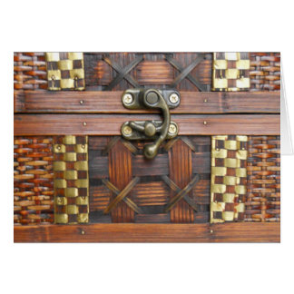 Wooden Chest with Metal Latch Card