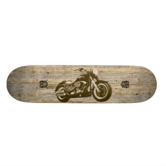 Wooden Classic Motorcycle Skate Board Deck