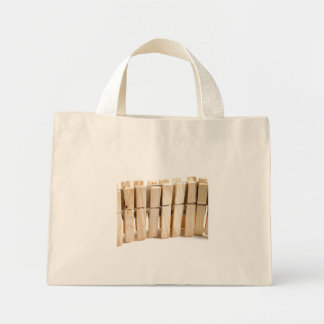 Wooden clothes pegs mini tote bag