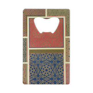 Wooden compartments and borders, from 'Arab Art as Wallet Bottle Opener