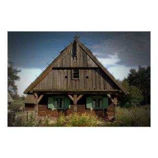 Wooden Cottage - Poster
