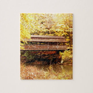 Wooden Covered Bridge Jigsaw Puzzle