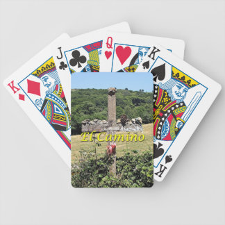 Wooden cross, El Camino, Spain Bicycle Playing Cards