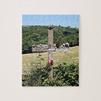 Wooden cross, El Camino, Spain Jigsaw Puzzle