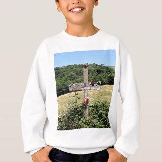 Wooden cross, El Camino, Spain Sweatshirt
