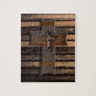Wooden Cross Jigsaw Puzzle