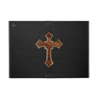 Wooden Cross on Dark Fabric Image Print Covers For iPad Mini